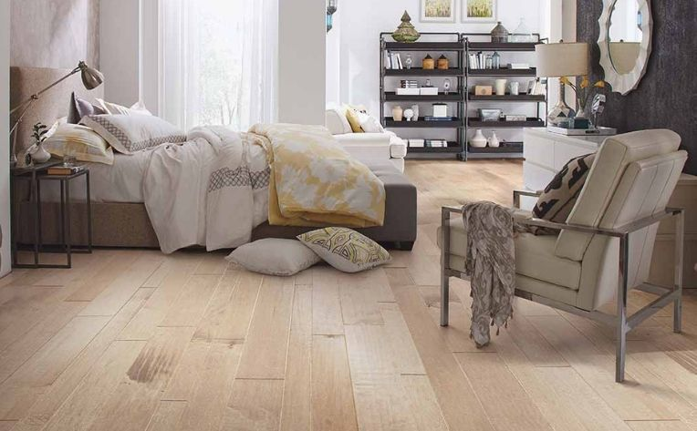 Hardwood Flooring Bedroom Setup