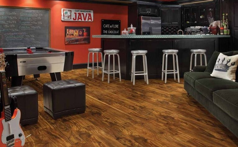 Hardwood Game Room Flooring