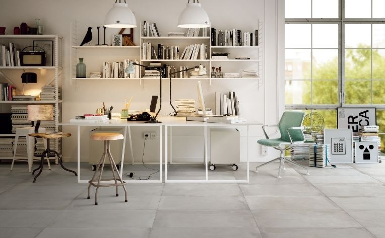 Home Office Tile Flooring