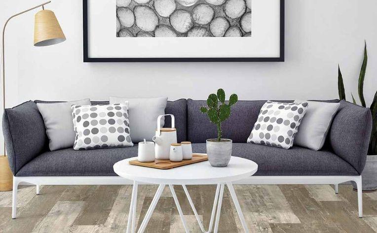 Luxury Vinyl Flooring Living Room Setup