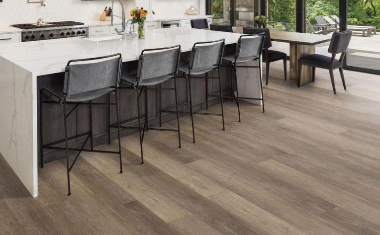 Wide-Plank Luxury Vinyl Kitchen Floor